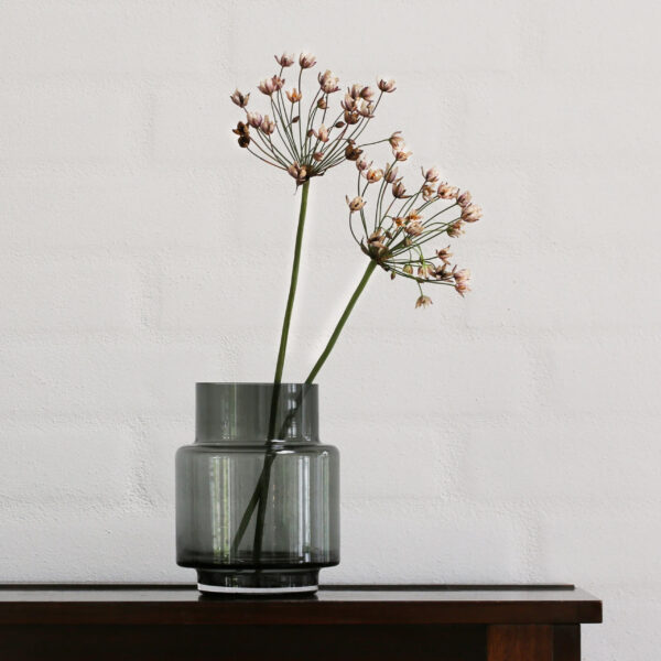 Ro Collection Hurricane No. 53 Vase in smoked grey